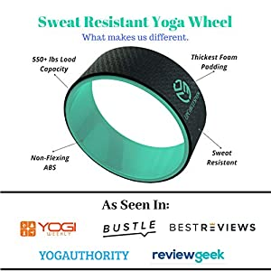 UpCircleSeven Yoga Wheel – [Pro Series] Strongest & Most Comfortable Dharma Yoga Prop Wheel, Perfect Accessory for Stretching and Improving Backbends, 12 x 5 Inch Basic