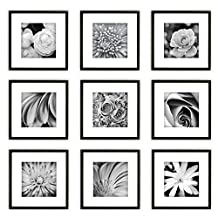 Gallery Perfect Hang Your Own Gallery Square 9-Piece Frame Set, Black