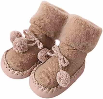 kaiCran Toddler Baby Socks Non Skid Cartoon Animal Anti-Slip Floor Step Socks 0-18 Months