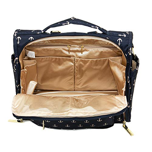 JuJuBe B.F.F Multi-Functional Convertible Diaper Backpack/Messenger Bag, Nautical Collection - The Admiral