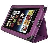 Tablet Case Cover, AGPtEK Slim Folio Stand Leather Protector for Barnes & Noble Nook Tablet/Nook Color, Purple