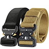Fairwin Tactical Belt, 2 PCS 1.5 Inch Military