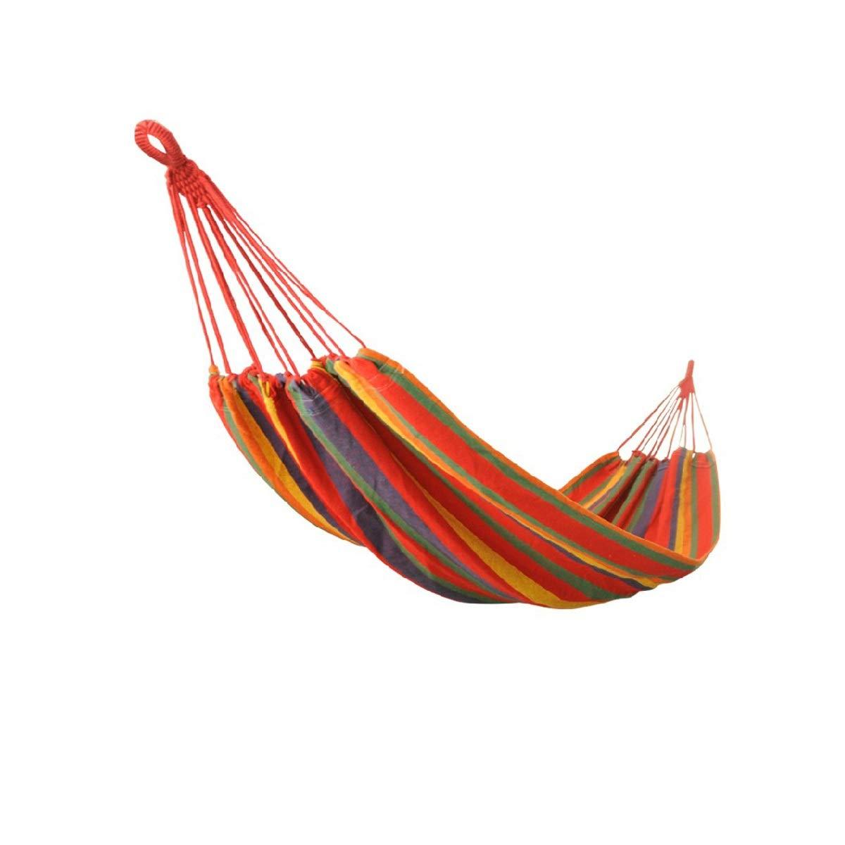 Guyuexuan Amaca Esterna, Amaca Campeggio Doppia e Singola con Cintura Albero - Zaino Esterno per la Sopravvivenza e Il Viaggio, Portatile, Alta qualità L'Ultimo Stile, Resistente (Colore   Red)