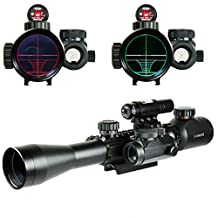 Spike Optics Rifle 3-9X40 Illuminated Hunting Red/Green Laser Riflescope with Holographic Dot Sight Combo Airsoft Weapon Sight