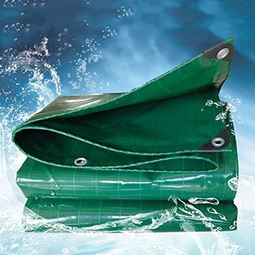 Vert 4x6M BÂche épaissir Multifonction Extérieur Imperméable à l'eau écran Solaire Ombre Tissu Linoléum Résistant à l'usure Plusieurs Tailles Peuvent Être Personnalisés GMING (Coul