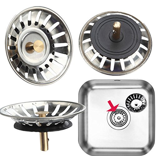 """""""McAlpine Stainless Screw up one's courage to the sticking point Kitchen Sink Drain Strainer Waste Plug"""" shopping"""