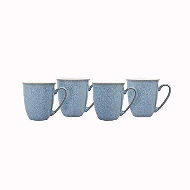 Denby Elements 4 Piece Coffee/Beaker Mug Set, Blue