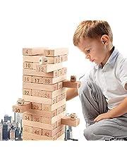 برج خشبي الخشب اللبنات دومينو جينغا لعبة لعبة مسلية الاطفال هدية