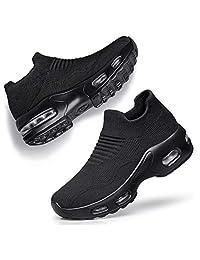 HAOSHIDUO Zapatillas de Tenis para Mujer Ligeras cómodas de Malla Calzado de Caminata para Mujer sin Cordones