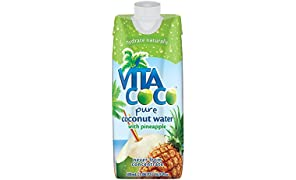 Vita Coco Coconut Water, Pineapple, 16.9 Ounce (Pack of 12)