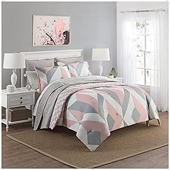 Amazon.com: 8 Piece Girls Pink Grey White Geometric Arch ...