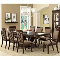 247SHOPATHOME Idf-3663T-7PC Dining-Room, 7-piece Set, Brown