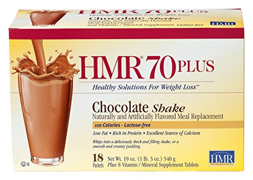 HMR 70 Increased by Chocolate Shake, 18 Single-Serve Packets