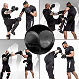 RDX Boxing Pads Focus Mitts | Matte Black Convex