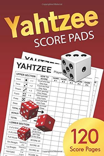Image for Yahtzee Score Pads: Small 6 x 9 (Yahtzee Score Book)