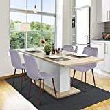shamolutuo Set of 4 Basic Dining Chairs Dining Room Chairs Retro Small Fabric Side Chair with Metal Legs Kitchen Eames Fashion Dining Chairs Guest Rooms Chairs for Bar Home Office