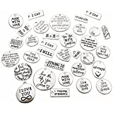 e18cf99b4 30pcs Inspiration Words Charms Craft Supplies Mixed Pendants Beads Charms  Pendants for Crafting, Jewelry Findings