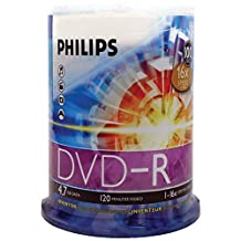 Philips DVD-R 4.7gb 16x, Fl 100 Pack