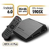 【2GB+8GB Android 6.0 OS】GooBang Doo ABOX A1 Plus Smart tv box