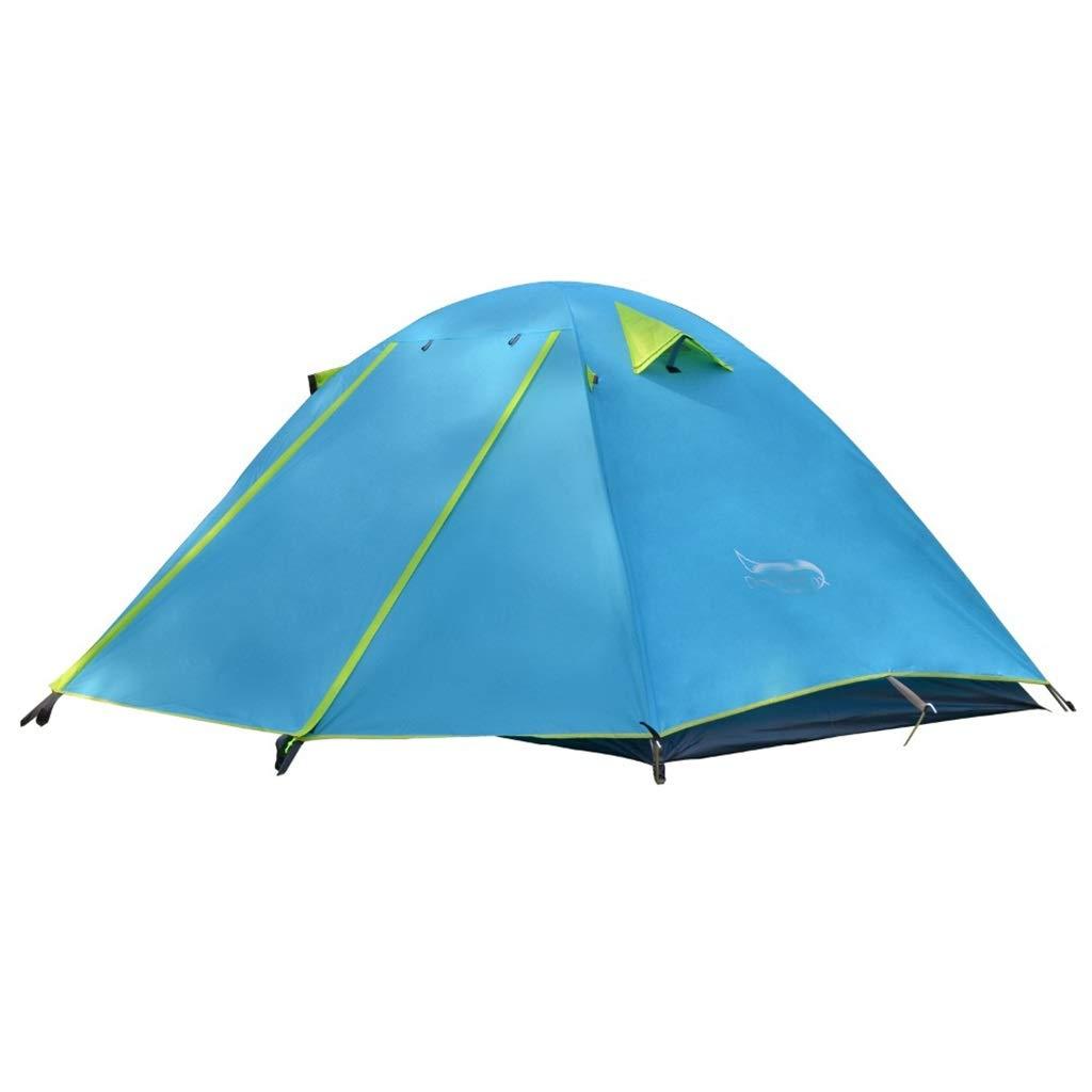 MEIEI Tenda da Campeggio Singola, Tenda da Viaggio a Doppio Strato in Alluminio Impermeabile a Doppio Strato (Colore   blu)