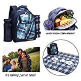 apollo walker Picnic Backpack Set for 4 with Cooler