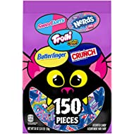 Assorted Halloween Candy Bag, Individually Wrapped Candies, 58 Ounce, 150 Count