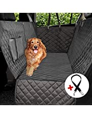 Dog Car Seat Covers,Dog Seat Cover Pet Seat Cover for Cars, Trucks, and SUV - Black, Waterproof, Hammock Convertible
