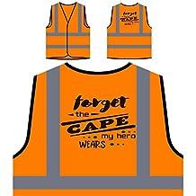 Forget The Cape My Hero Wears Kevlar Personalized Hi Visibility Orange Safety Jacket Vest Waistcoat j797vo