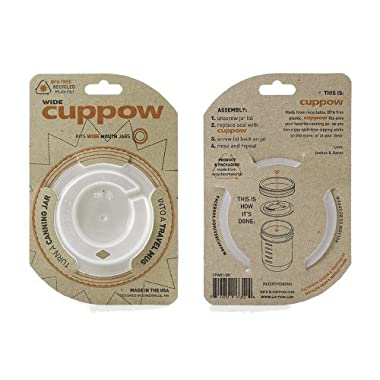 Original Cuppow Wide - Drinking Lid for Wide Mouth Canning Jar!