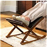 Chums Rocking Footstool Solid Wood Adjustable Foot Rest Mahogany One Size