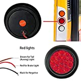 TOPPOWER LED Truck/Trailer Tail Lights with Iron