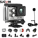 SJCAM SJ7 Star Kit {SJ7 Camera with Accessories, SJCAM Long Microphone} Real 4K Action Camera Wifi Waterproof Underwater Camera Ambarella Chipset 30FPS/Sony Sensor 12MP Gyro Stabilization-Silver