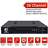 JOOAN 16 Channels H.264 Network Motion Detection 16CH DVR CCTV Surveillance Security System Digital Video Recorder 5-in-1 AHD DVR (1080P NVR+1080N AHD+960H Analog +TVI+CVI) No HDD(no hard drive)