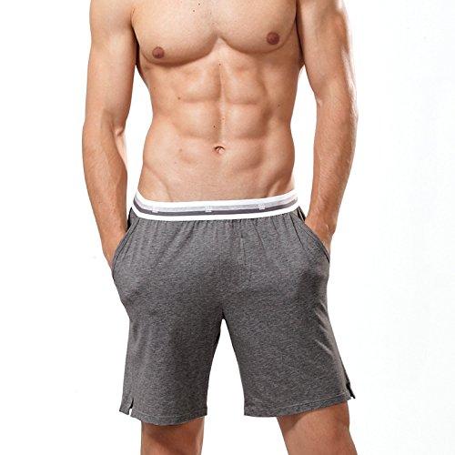 OME&QIUMEI Männer Pyjama Pants Shorts Hose Atmungsaktive Baumwolle Heimtextilien Dünne Taille