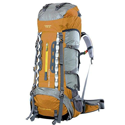 70L de gran capacidad de bolsa de viaje de la moda hombres y mujeres Mochila doble mochila del hombro a prueba de agua , gold Gold