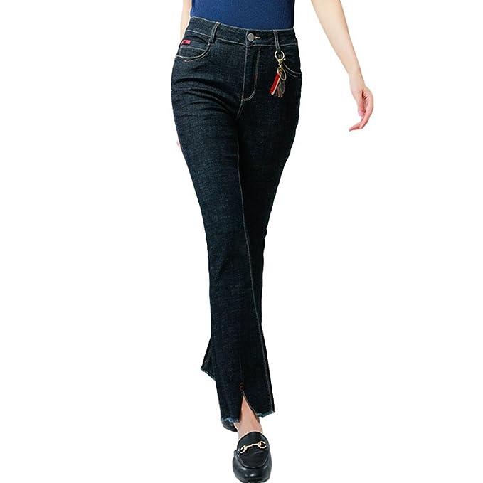 MissFox Moda Pantalones Vaqueros para Mujer Skinny Slim ...