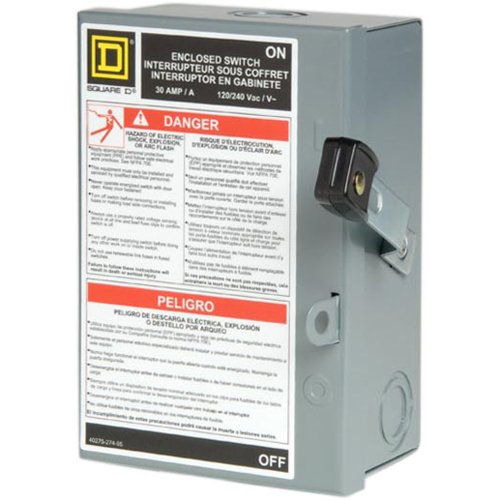 Square D by Schneider Electric L211N 30 Amp 120/240-Volt Two-Pole Indoor Light Duty Fusible Safety Switch with Neutral by Square D by Schneider Electric (Image #2)