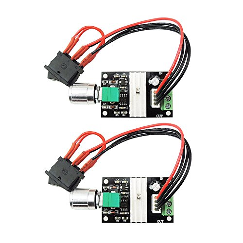 Onyehn 2Pcs 6V 12V 24V 28V 3A 80W DC Motor Speed Controller PWM Speed Adjustable Reversible Switch 1203BB DC Motor Driver Reversing (2 Pack) by Onyehn