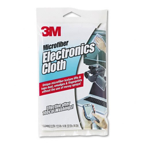 3M Microfiber Electronics Cleaning Cloth, 12 X 14, White -- Sold As 2 Packs Of - 1 - / - Total Of 2 Each MMM9027-SNP230