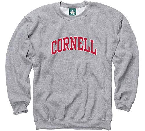 Ivysport Cornell University Crewneck Sweatshirt, Classic, Grey, Small (Cornell Vintage Apparel)