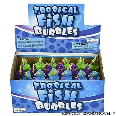 0.6OZ TROPICAL FISH BUBBLES: Toys & Games