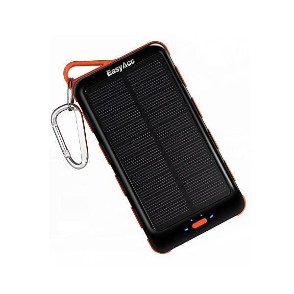 EasyAcc-Classic-15000mAh-Solar-Panel-Power-Bank-with-Flashlight-External-Battery-Portable-Charger-for-iPhone-Samsung-Smartphones-Tablets-Bluetooth-Speaker-Black-and-Orange