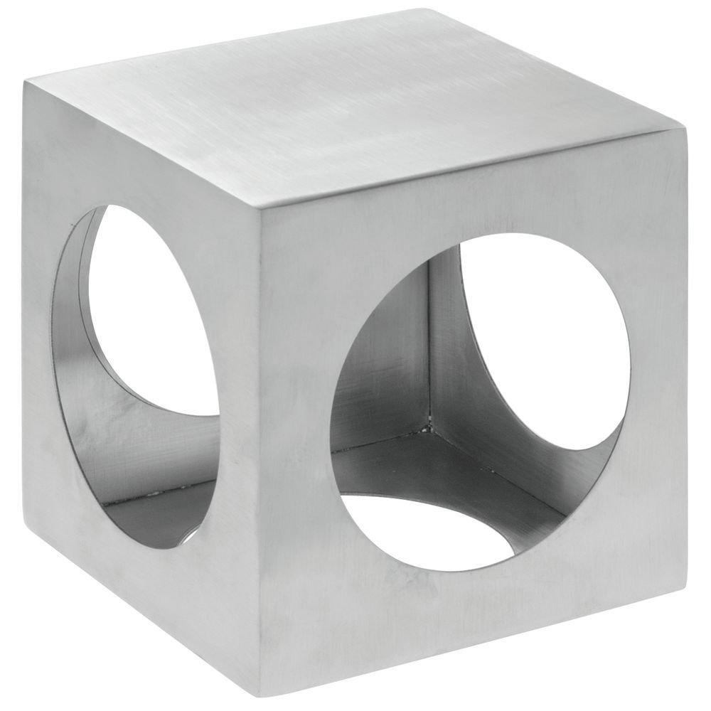 Metal Display Riser Square Laser-Cut Stainless Steel Metal Riser - 5'' Square
