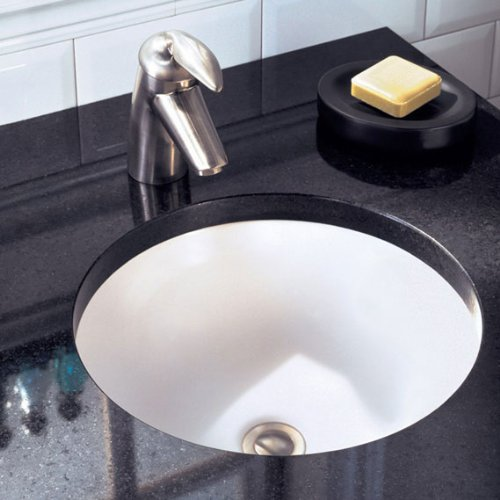 American Standard 0630.000.020 Orbit Undercounter Bathroom Sink, White by American Standard