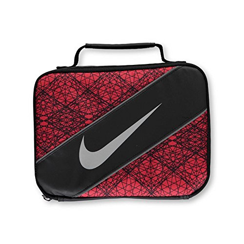 Nike Large Insulated Lunchbox - black/university red, one size by NIKE