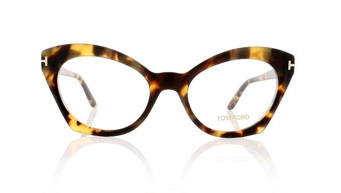 ded97f892347 Amazon.com: Tom Ford FT5456 Eyeglasses 52-19-140 Havana w/Demo Clear ...