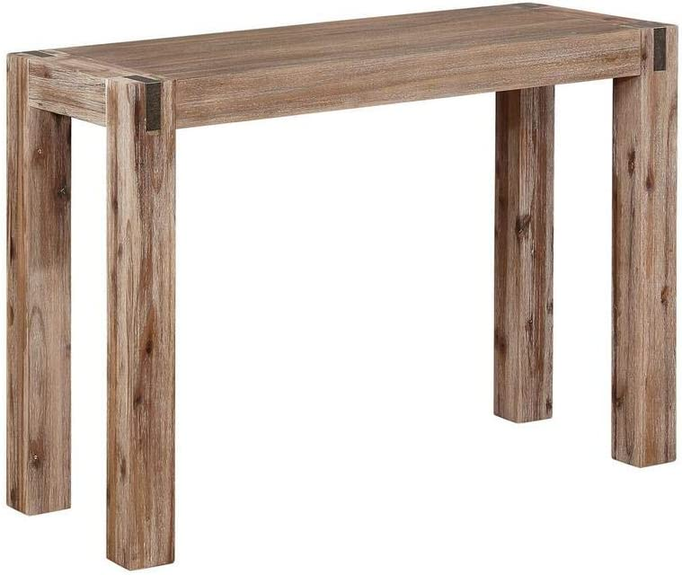 Alaterre Furniture Woodstock Console Table, Standard, Driftwood