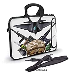 This SoSung protective cute pug style laptop shoulder bag is made from premium neoprene material, which is very durable, not easily broken. The exclusive trendy design also gives your device the most functional yet fashionable look, and enabl...