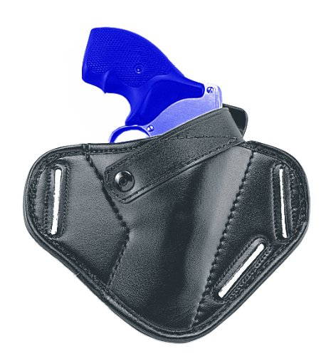Uncle Mike's Law Enforcement Mirage Plain Right Hand Super Belt Slide Holster (Size 40, Black)