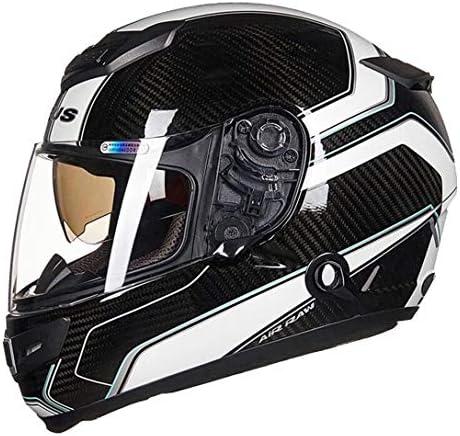 カーボンヘルメット バイク ヘルメット フルフェイスヘルメット bluetooth メンズ 絵 ヘルメット レディース helmet uvカット ダブルシールド おおきいサイズ 通気吸汗 日焼け止め オールシーズン 内装 洗濯可 おしゃれ ヘルメット ブラック/ホワイト 4XL 頭囲 63-64cm
